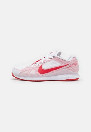 AIR ZOOM VAPOR PRO CLAY - Clay court tennis shoes - white/university red