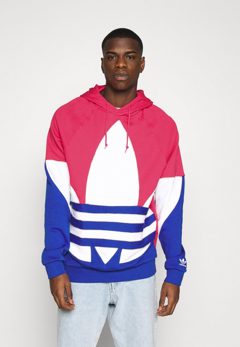 adidas Originals - OUT HOOD - Sweat à capuche - powpnk/white/royblu