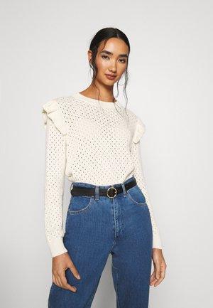DAISY - Stickad tröja - ecru