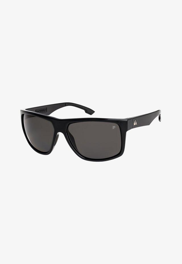 TRANSMISSION POLARISED - Sunglasses - shiny black/polarized grey