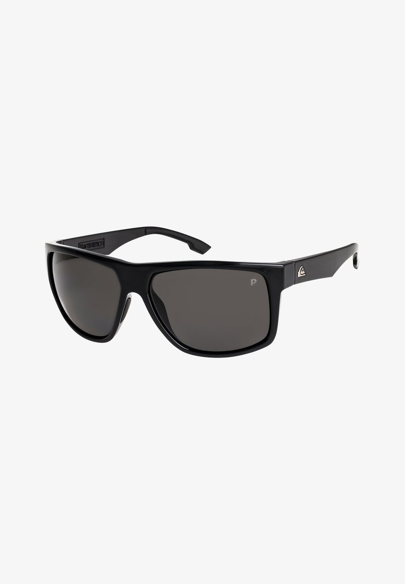 Quiksilver - TRANSMISSION POLARISED - Sunglasses - shiny black/polarized grey