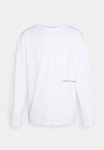 PRINTED LONGSLEEVE - Pitkähihainen paita - white