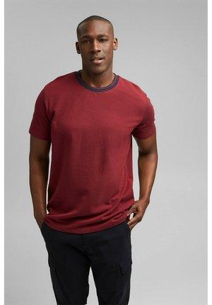 T-shirt basic - garnet red