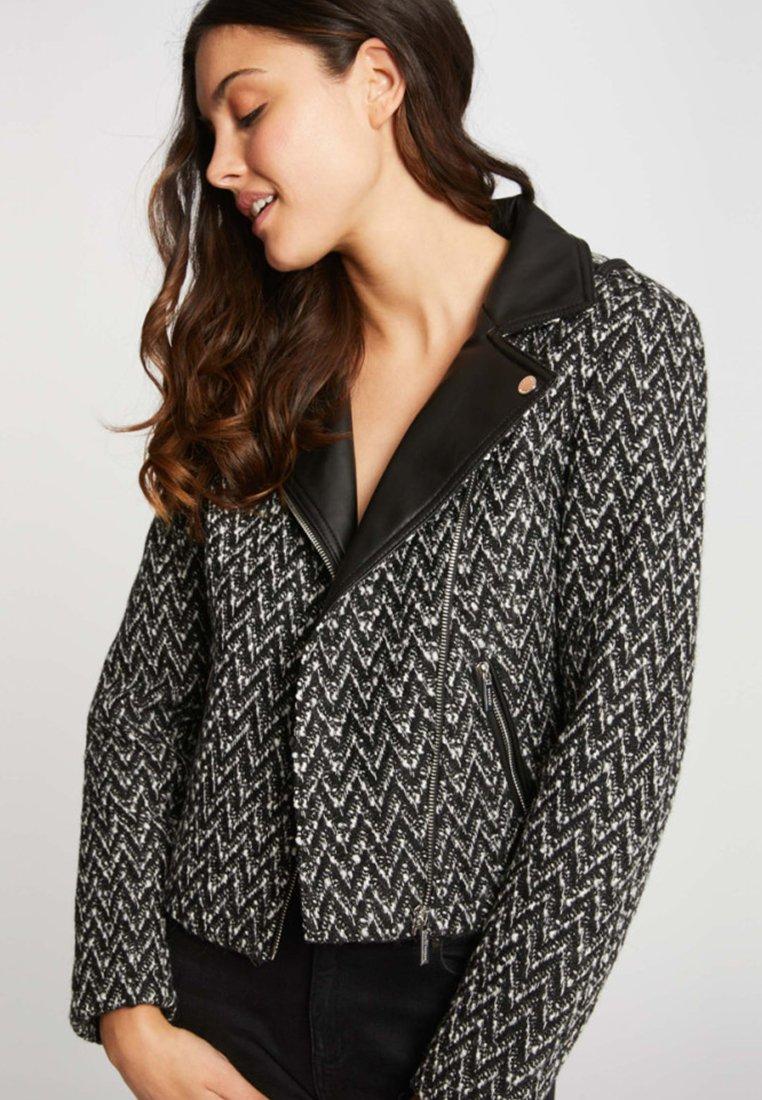 Morgan - Faux leather jacket - black