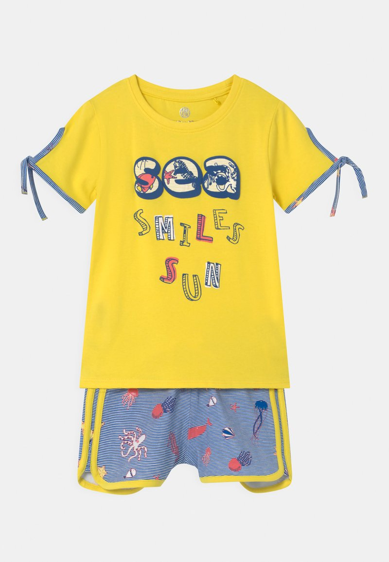 Lemon Beret - SMALL GIRLS SET - Print T-shirt - celandine