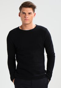 Only & Sons - ONSDAN STRUCTURE CREW NECK  - Stickad tröja - black - 0