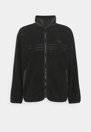 ZIP THRU - Fleece jacket - black