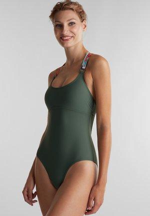 MIT MULTI-TRÄGERN - Swimsuit - olive
