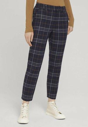 Trousers - blue black check