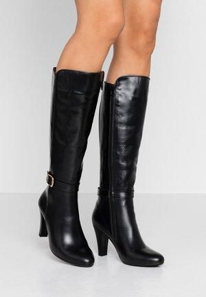 VILLA - High heeled boots - black