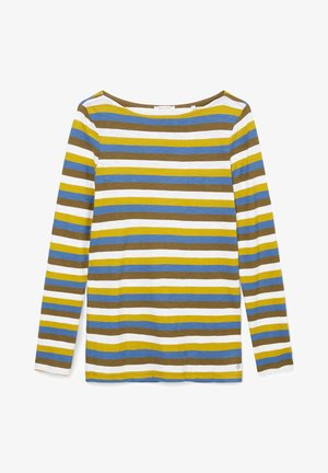 Long sleeved top - multi/fresh pea