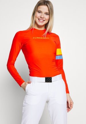 SHAY LIGHT COMPRESSION - Sports shirt - tomato red