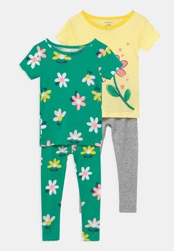 FLOWER 2 PACK - Pijama - green/yellow