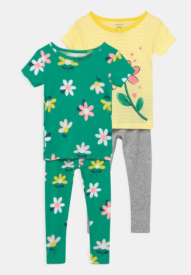 FLOWER 2 PACK - Pyžamová sada - green/yellow