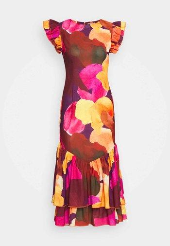 SUNSET ARTIST PRINT DRESS