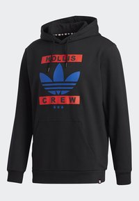adidas Originals - RUN DMC HOODY - Hoodie - black/white/scarle - 8