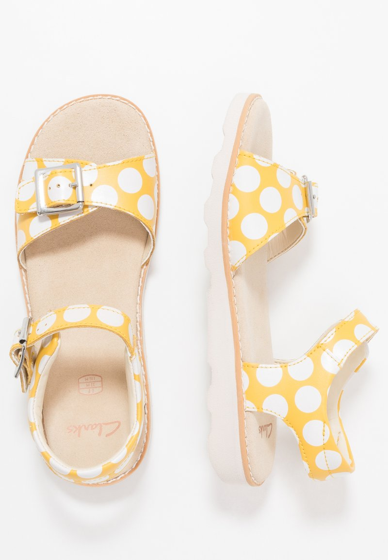 Clarks - CROWN BLOOM - Sandals - yellow