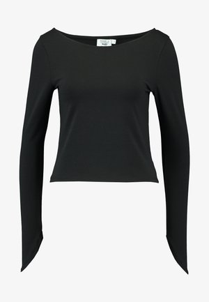 Pamela Reif x NA-KD LONG SLEEVE BOAT NECK - Long sleeved top - black