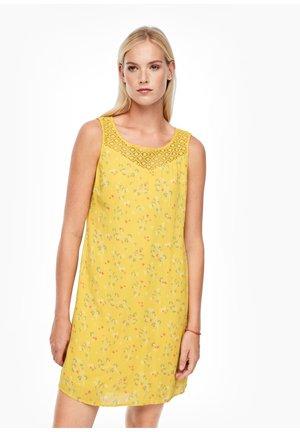 Day dress - yellow aop mini flowers