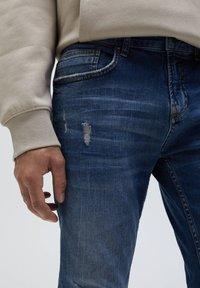 PULL&BEAR - Jeans Skinny Fit - mottled blue - 4