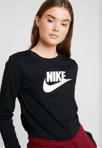 Nike Sportswear - TEE ICON - Long sleeved top - black/white - 4
