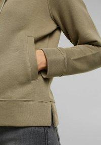 edc by Esprit - Zip-up sweatshirt - khaki - 4