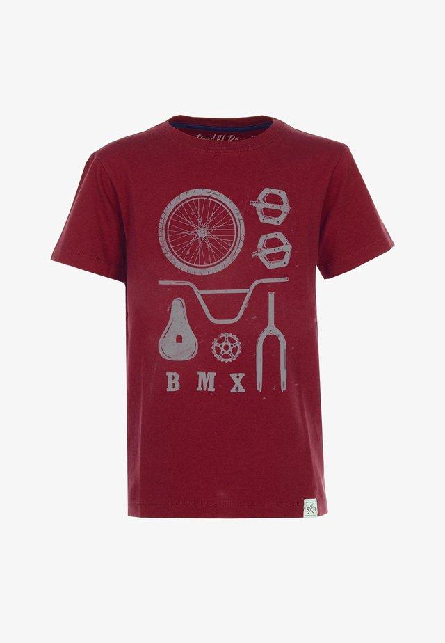 BMX PARTS - T-shirt med print - brick-red