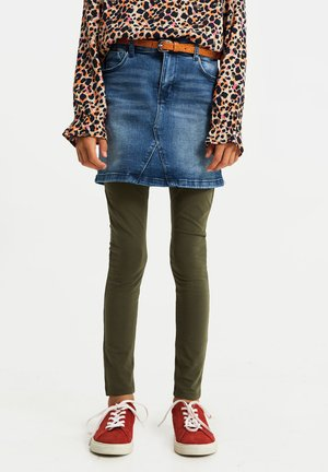 MEISJES SKINNY FIT - Leggings - Trousers - olive green