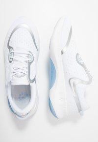 Nike Performance - JOYRIDE DUAL  - Neutral running shoes - white/metallic silver/aura/hydrogen blue - 1