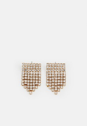 PCMACKENZIE EARRINGS - Ohrringe - gold-coloured/clear