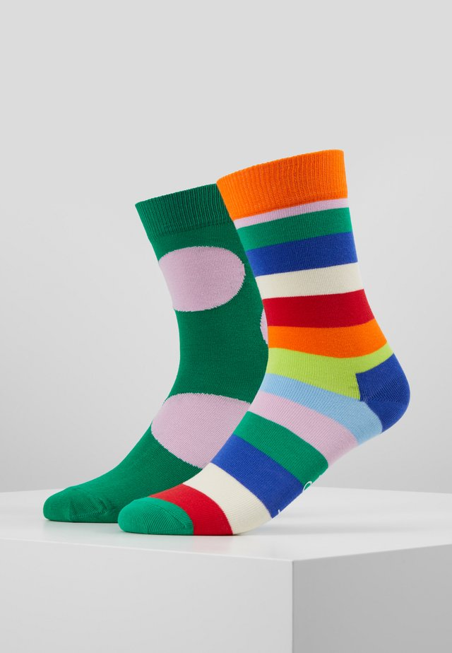 2 PACK STRIPE JUMBO DOT  - Chaussettes - multi