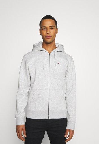 REGULAR ZIP HOOD - Zip-up sweatshirt - light grey heather