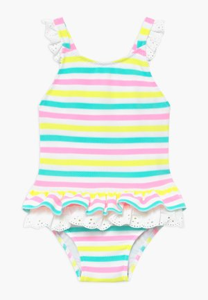 STRIPE BROIDERIE SWIMSUIT - Plavky - multi