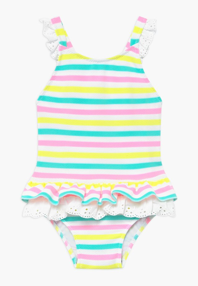 STRIPE BROIDERIE SWIMSUIT - Baddräkt - multi