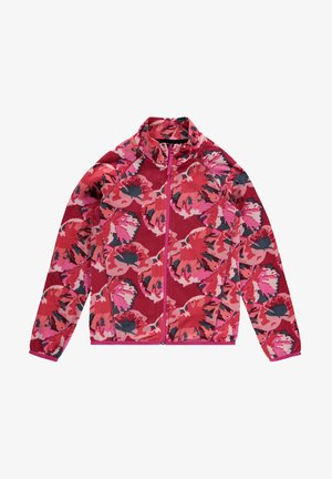 PRINTED FULL ZIP - Fleece jacket - red aop w/ pink or purple