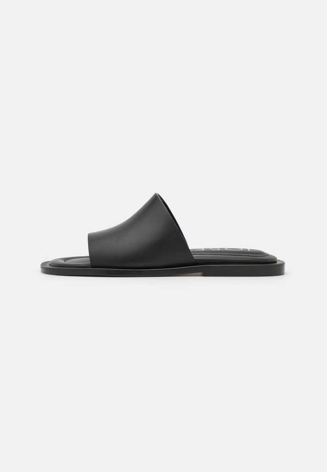 SOFTY POOL SLIDE - Pantolette flach - black
