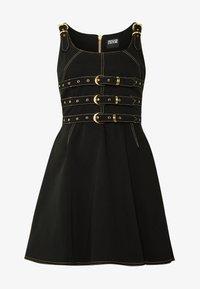 LADY DRESS - Denimové šaty - nero