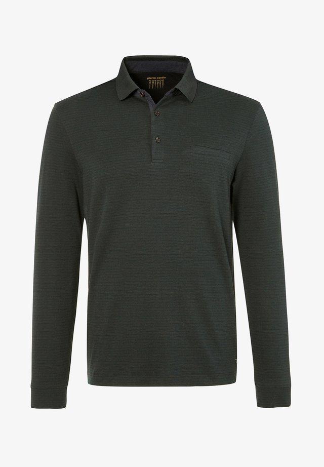 GESTREIFT - Poloshirt - dunkelgrün