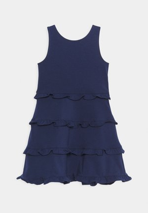 TIER DRESS - Žerzejové šaty - french navy