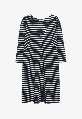 MIT BALLONÄRMELN - Day dress - dunkles marineblau