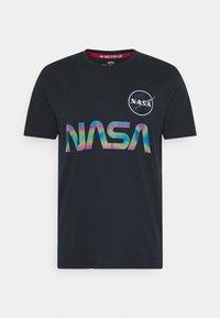 Alpha Industries - NASA RAINBOW  - Print T-shirt - dark blue - 3