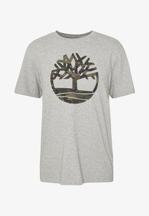KENNEBEC RIVER CAMO TREE TEE - T-shirt z nadrukiem - medium grey heather