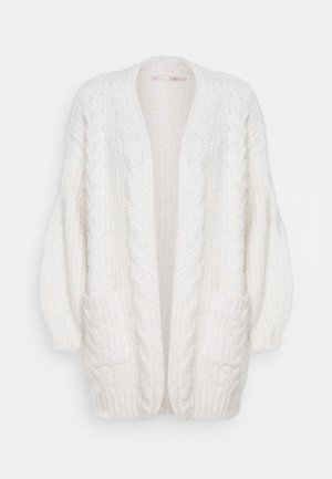 CARDIGAN CABLES - Neuletakki - off white