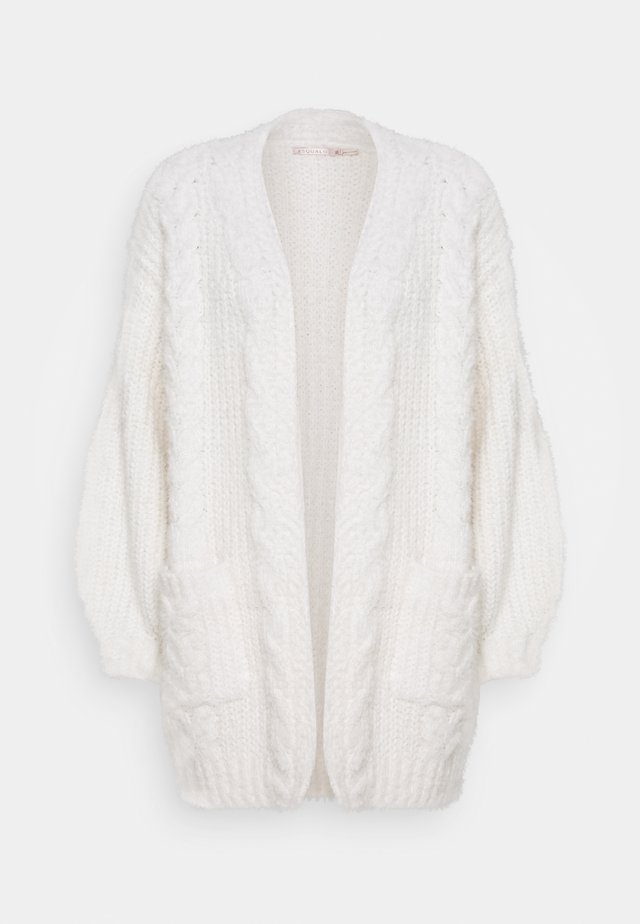 CARDIGAN CABLES - Kofta - off white