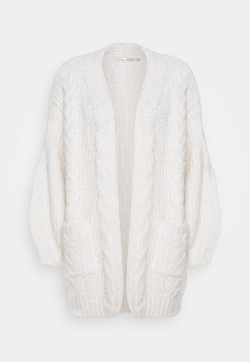 Esqualo - CARDIGAN CABLES - Cardigan - off white