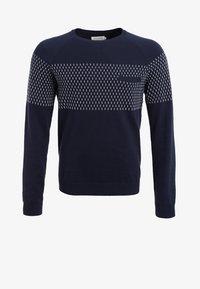 Pier One - Stickad tröja - dark blue - 5