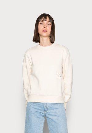 OFF PLACED MONOGRAM CREW NECK - Sweatshirt - beige