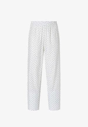 MIT BLÜMCHEN  - Pyjama bottoms - white