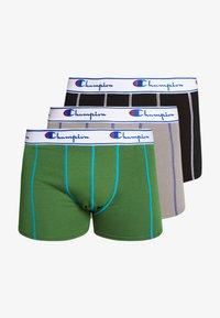 Champion - BOXER 3 PACK - Pants - black/grey/khaki - 5