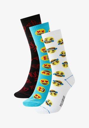 3PACK - Ponožky - mottled blue